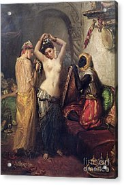 The Toilet In The Seraglio Acrylic Print by Theodore Chasseriau