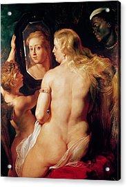The Toilet Of Venus Acrylic Print by Peter Paul Rubens