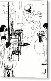 The Toilette Of Salome Acrylic Print by Aubrey Beardsley