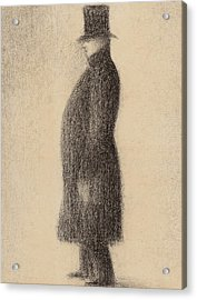 The Top Hat Acrylic Print by Georges Pierre Seurat