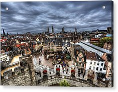 The Top Of Ghent Acrylic Print by Shawn Everhart