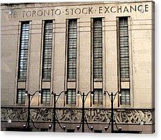 The Toronto Stock Exchange Acrylic Print by Ian  MacDonald