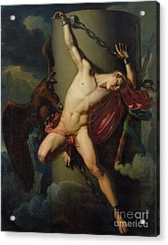 The Torture Of Prometheus Acrylic Print by Jean-Louis-Cesar Lair