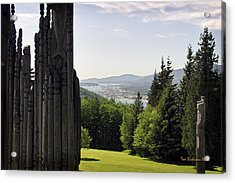 The Totems Watching Acrylic Print by Tom Buchanan