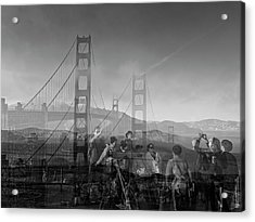 The Tourists - Golden Gate Acrylic Print