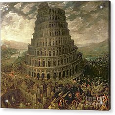 The Tower Of Babel Acrylic Print