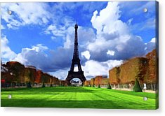 Acrylic Print featuring the painting The Tower Paris by David Dehner