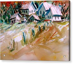 The Town On Shaky Ground Acrylic Print by Steven Holder