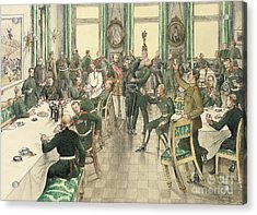 The Traditional Breakfast Held To Commemorate The Battle Of Telish Acrylic Print by Boris V de Heroys