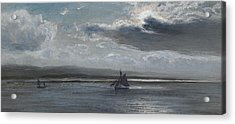 The Traeth Mawr, Moonlight Acrylic Print by Henry Moore