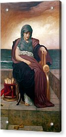The Tragic Poetess Acrylic Print by Frederic Leighton