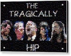 The Tragically Hip Mosaic Acrylic Print by Paul Van Scott
