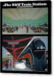 The Train Station At Portsmouth Ohio Acrylic Print