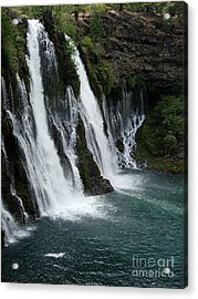 The Tranquility Of Waterfalls Acrylic Print by Stephanie  H Johnson