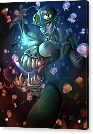 The Trap Acrylic Print by Pete Tapang