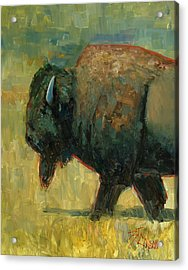Acrylic Print featuring the painting The Traveler by Billie Colson