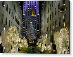 The Tree At Rockefeller Plaza Acrylic Print