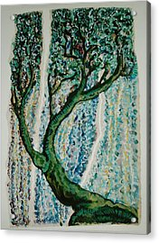 The Tree Energy Acrylic Print by Helene  Champaloux-Saraswati