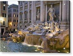 The Trevi Fountain At Dusk Acrylic Print by Scott S. Warren