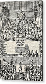 The Trial Of Charles I Acrylic Print