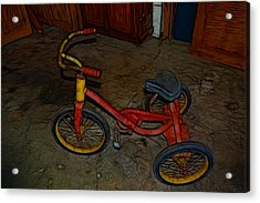 The Tricycle Acrylic Print by Kathleen Stephens