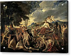 The Triumph Of Flora Acrylic Print by Nicolas Poussin