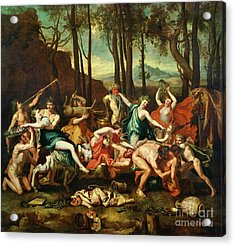 The Triumph Of Pan Acrylic Print by Nicolas Poussin
