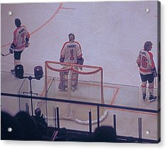 The Triumvirate - Bobby, Bernie, And Billy - Vintage Philadelphia Flyers Acrylic Print