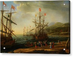 Acrylic Print featuring the painting The Trojan Women Setting Fire To The Fleet by Claude Lorrain