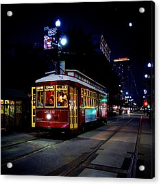 Acrylic Print featuring the photograph The Trolley by Evgeny Vasenev