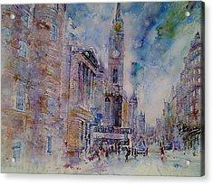 The Tron High Street  Edinburgh  Acrylic Print by Robert Hogg