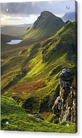 The Trotternish Hills From The Quiraing Isle Of Skye Acrylic Print by John McKinlay