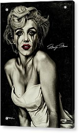 The True Marilyn Acrylic Print by Dan Menta
