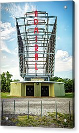 Acrylic Print featuring the photograph The Tulsa Admiral Twin Drive-in by Gregory Ballos