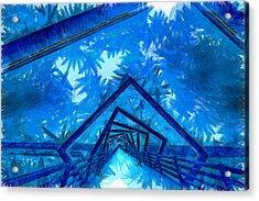 The Tunnel - Da Acrylic Print by Leonardo Digenio