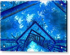 The Tunnel - Pa Acrylic Print by Leonardo Digenio