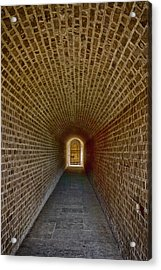Acrylic Print featuring the photograph The Tunnels Of Fort Clinch by Paula Porterfield-Izzo