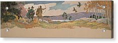 The Turkey Hunters Acrylic Print by Newell Convers Wyeth