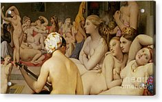 The Turkish Bath Acrylic Print by Ingres