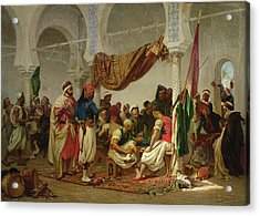 The Turkish Cafe Acrylic Print by Charles Marie Lhuillier