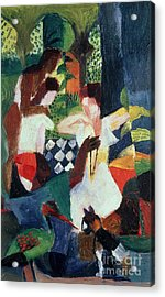 The Turkish Jeweller  Acrylic Print by August Macke