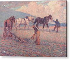 The Turn Rice-plough, Sussex Acrylic Print by Robert Bevan