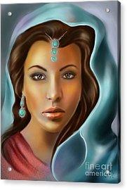 The Turquoise Rania... Acrylic Print