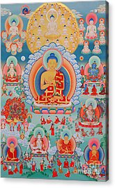 The Twelve Primordial Teachers Of Dzogchen - Tonpa Chu Ni Acrylic Print