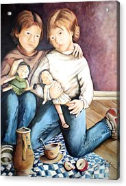 The Twins - Les Jumelles Acrylic Print