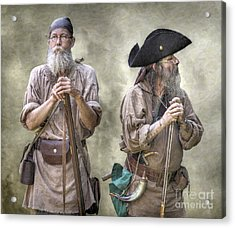 The Two Frontiersmen  Acrylic Print by Randy Steele