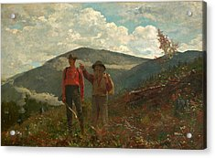 The Two Guides Acrylic Print by Winslow Homer