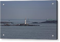 The Two Harbor Lighthouses Acrylic Print