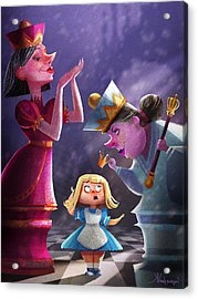 The Two Queens, Nursery Art Acrylic Print