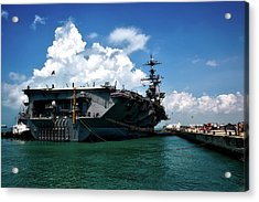 The U S S John C Stennis In Port Acrylic Print